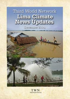 Cover of Lima Climate News Updates